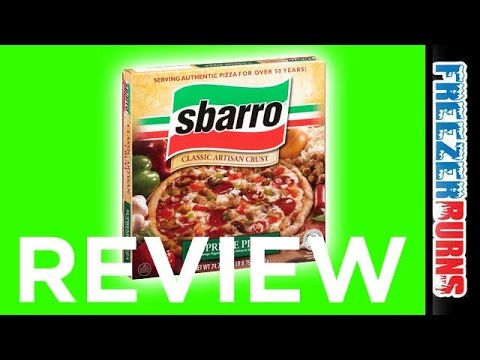 Sbarro Frozen Supreme Pizza Video Review: Freezerburns (Ep682)