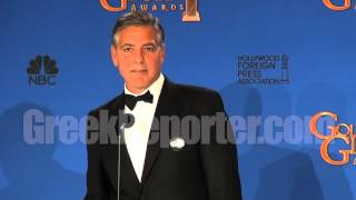 Exclusive: George Clooney Talks Parthenon Marbles from the Golden Globes