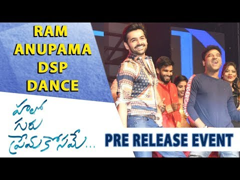 Ram, Anupama, DSP Dance - Hello Guru Prema Kosame Pre-Release Event - Ram Pothineni, Anupama