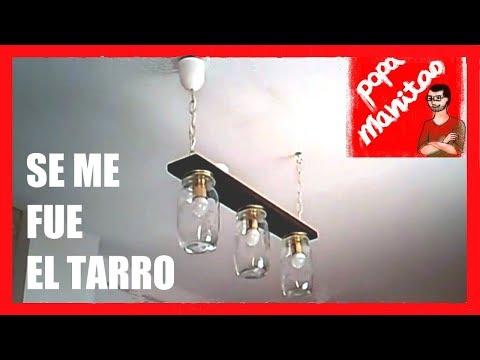Hacer una lámpara con unos tarros de cristal / Make a lamp with a glass jars