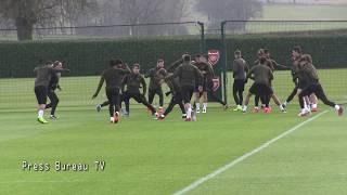 Arsenal Training Pre Europa League Vs BATE