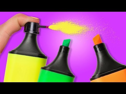 5 COOL LIFE HACKS WITH MARKERS