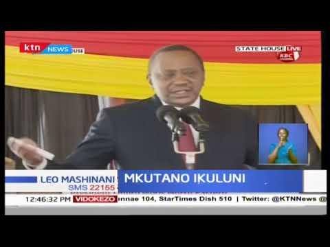 President Uhuru Kenyatta addresses Nort Easternl eaders at the State House