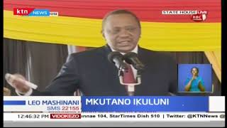 President Uhuru Kenyatta addresses Nort Easternl eaders at the State House