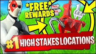 HIGH STAKES CHALLENGES (Fortnite) - WIN MATCHES OF GETAWAY, PICK UP A JEWEL, DAMAGE CARRYING