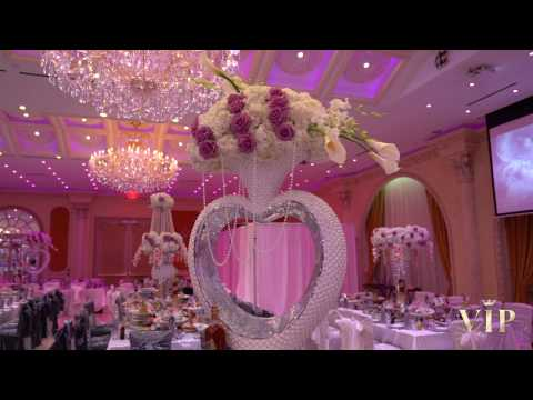 Luxurious wedding decor