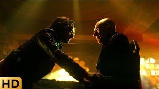 Профессор Ксавьер разговаривает с самим собой из будущего. Люди Икс: Дни минувшего будущего.