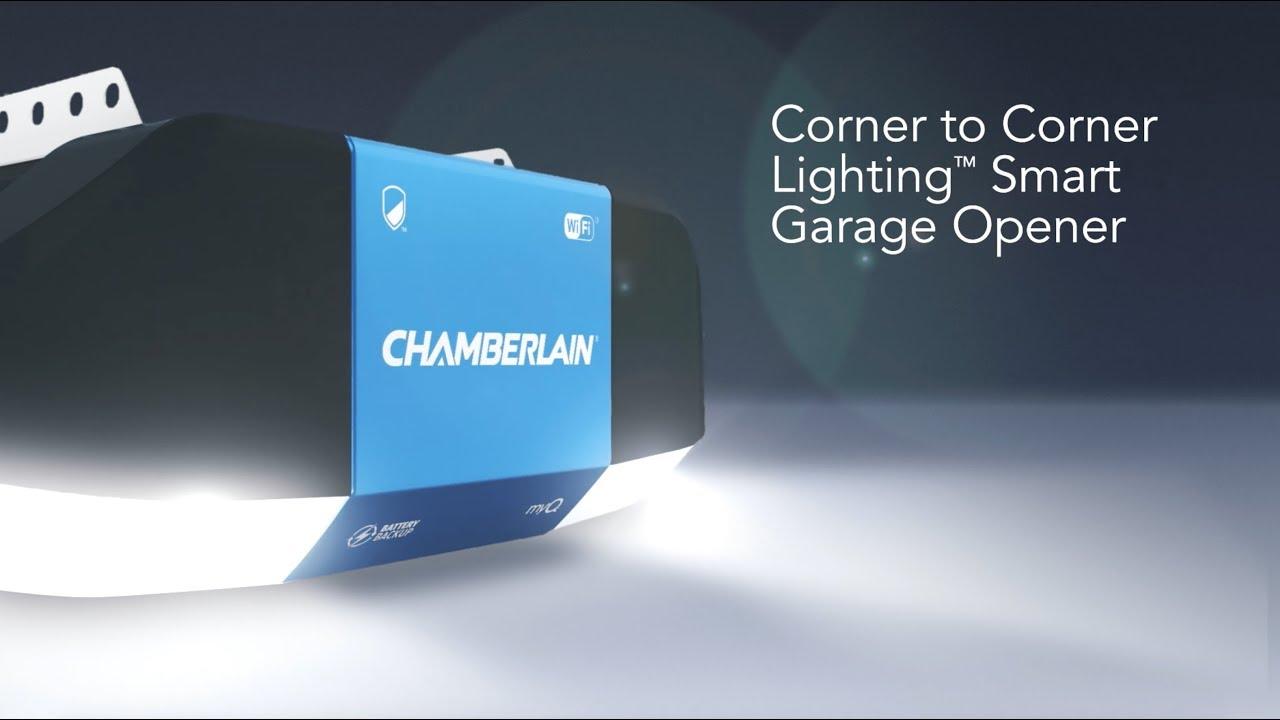 Ouvre-porte de garage intelligent avec éclairage Corner to Corner de Chamberlain