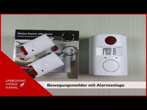 Bewegungsmelder mit Alarmanlage - Unboxing Video