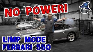 NO POWER! The CAR WIZARD solves this limp mode 1998 Ferrari 550 Maranello