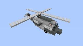 Как построить вертолет в Minecraft [Квадратная красота]