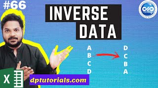 Excel Tricks : How To Inverse the Data Range in Excel : Turn Data Upside Down || dptutorials