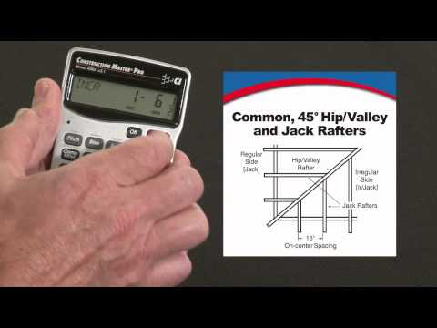 Construction Master Pro - Commons, 45/non-45 degree Hips, Valleys and Jack Rafters