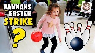BOWLING Mit Der Ganzen Familie 🎳 6-Jährige Hat Spaß Beim Bowlen 🎳 First Time Bowling