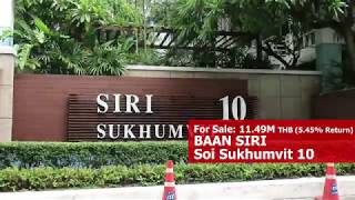Baan Siri Sukhumvit 10  | Two Bed Condo for Sale at Asoke/Nana
