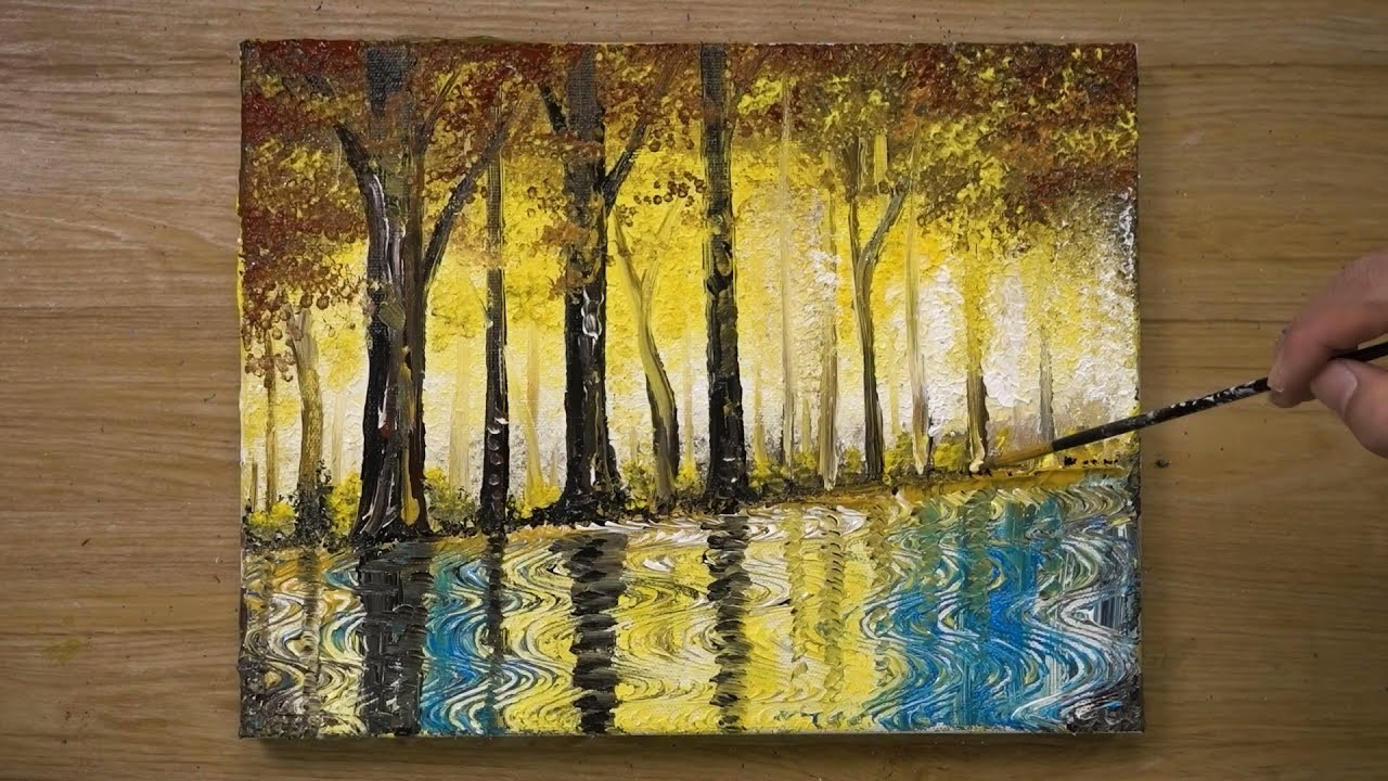 acrylic painting 'the rainy day' cotton swabs painting by jay lee painting