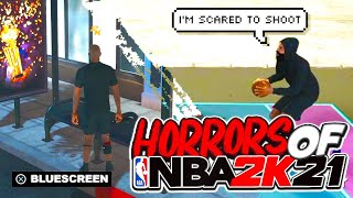 THE HORRORS OF NBA 2K21! LAGGING, GETTING DELAYED, BLUE SCREENS & MISSING EVERY JUMPER YOU TAKE...