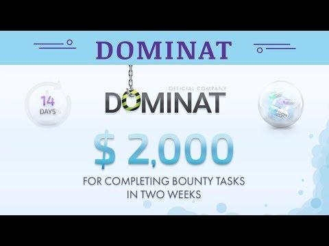 Dominat.company отзывы 2019, mmgp, ВЫПЛАЧЕНО БОЛЕЕ $ 2,000 ЗА ВЫПОЛНЕНИЕ ЗАДАНИЙ BOUNTY