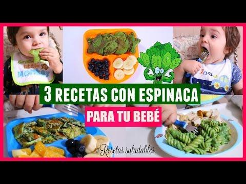 3 RECETAS FACILES Y SALUDABLES CON ESPINACA PARA BEBE O NIÑO|Reishel La Super Mamá