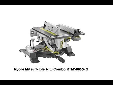 Ryobi Miter Table Saw Combo RTMS1800-G