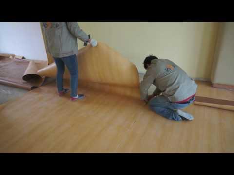 How to install PVC vinyl sheet flooring?
