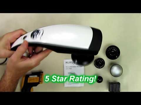 NURSAL Handheld Deep Percussion Massager and Heat, Variable Speed Adjustment & Anti Skid Design