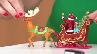 Mr. Christmas Animated Lit Revolving Santa & Sleigh Tree Topper On QVC