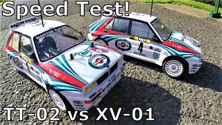 Tamiya Lancia TT-02 VS XV-01 Speed Test + Handling Test Run