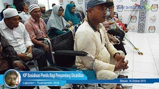 KIP Sosialisasi Pemilu Bagi Penyandang Disabilitas