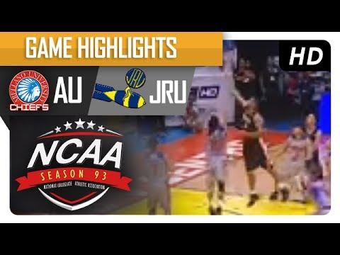 AU vs. JRU | NCAA 93 | MB Game Highlights | July 18, 2017