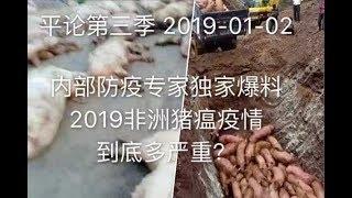 平论Live | 内部防疫专家独家爆料 2019非洲猪瘟疫情到底有多严重 2019-01-02