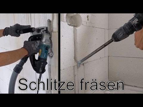 Mauerschlitz / Mauernut mit Mauernutfräse erstellen - Rohbau-Elektroinstallation Teil 2