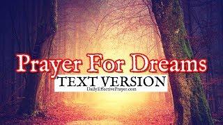 Prayer For Dreams (Text Version - No Sound)