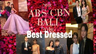 THE ABS CBN  BALL 2018 BEST DRESSED OF CELEBRITIES Part 1