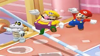 Mario Party 7 - 8 Player Ice Battle - Dry Bones Wario Mario Peach Yoshi All Mini Games (Master CPU)