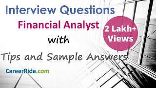 Financial Analyst Interview Questions and Answers - For Freshers and Experienced Candidates
