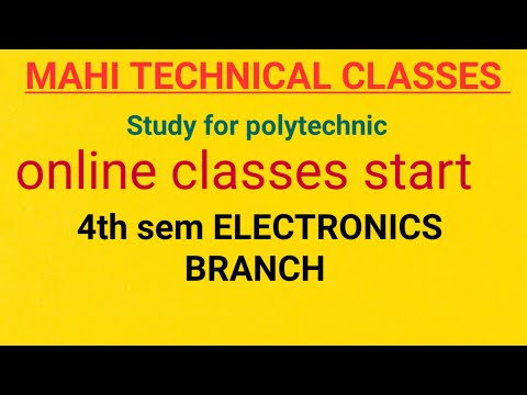 ADVANCE ELECTRONICS    4th    SEMESTER    POLYTECHNIC    FOR  ONLINE CLASSES