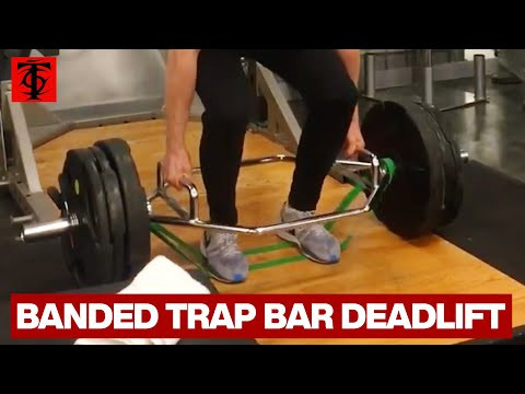 Trap Bar Deadlift with Bands