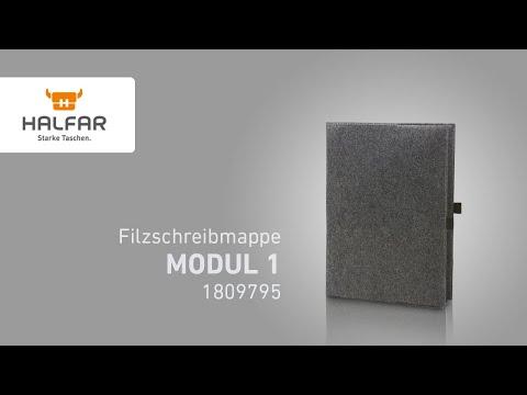 Vorschau: Filz-Schreibmappe MODUL 1