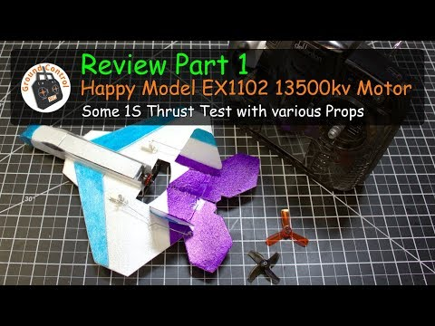 Review Part 1 - Happy Model EX1102 13500kv Motor - Will this work in a 1S Nano Plane?