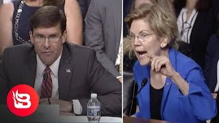 Elizabeth Warren Tries to Shame SecDef Nominee Mark Esper, Backfires Spectacularly
