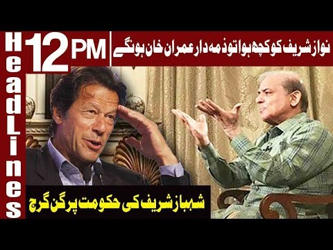 PTI accuses Sharif family of politicising Nawaz's health  | Headlines 12 PM | 17 March 2019 |Express