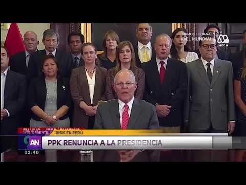 Renuncia Presidente de Perú Pedro Pablo Kuczynski