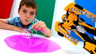 Трансформеры на ферме. Автоботы vs Десептиконы. Видео с игрушками