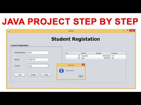 Java Simple Project step by step using mysql database
