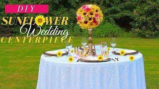 Fall Wedding Centerpieces | Sunflower Centerpiece