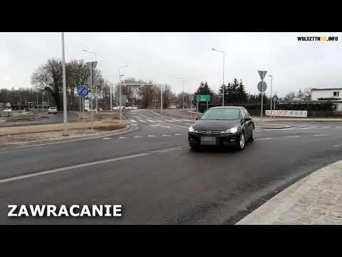 Wideo1: Rondo turbinowe - jak po nim jeździć? W Wolsztynie takie jest..