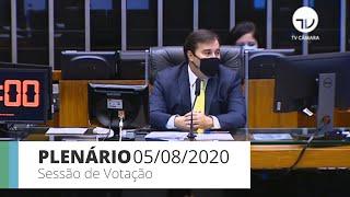 Plenário - Sessão para votação de propostas legislativas - 05/08/2020 13:55
