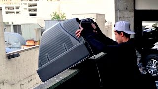 What Will Happen to Old TV if Dropped From 100FT!! WillitBREAK? -EXPLOSION!!!