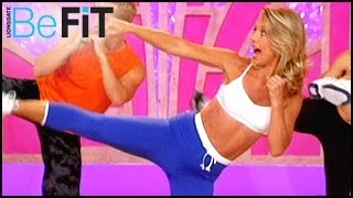 20 Minute Cardio ABS Workout Video, Cardio Kickboxing Glutes Workout Video